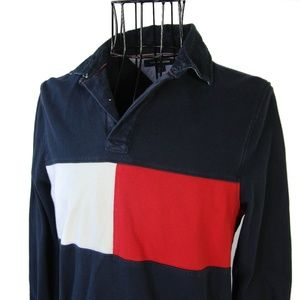 Tommy Hilfiger Big Flag Long Sleeve Polo